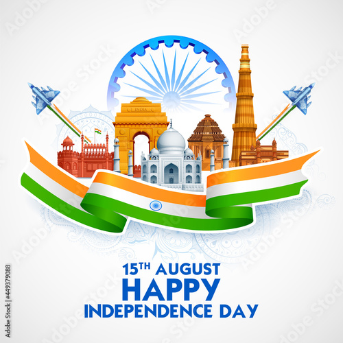 Fotografia Famous Indian monument and Landmark for Happy Independence Day of India