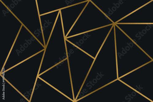 Obraz na plátně Black Rose Gold Mosaic Background