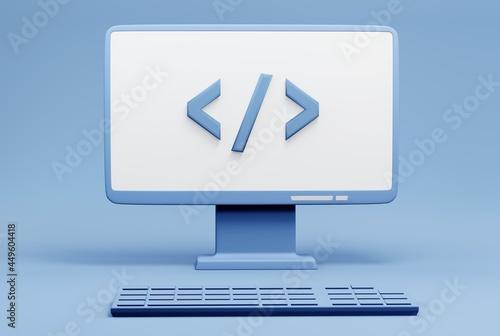 Obraz na plátně Coding concept,  Software development, software developer, computer programmer c