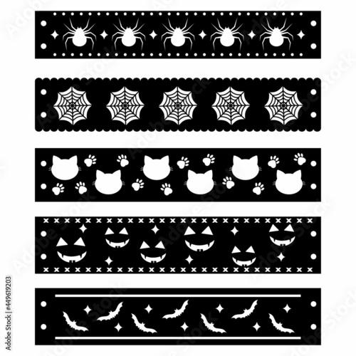 Fotografia, Obraz Bracelet black template for the Halloween holiday, vector illustration