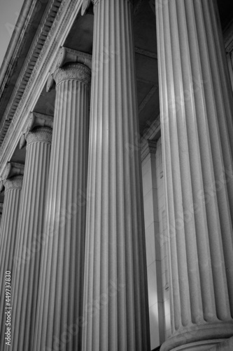 Photo The beautiful architecture columns of the Treasury Department in Washington DC