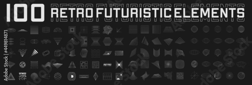 Set of retrofuturistic design elements Fototapet