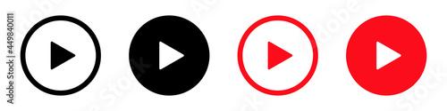 Stampa su Tela Player icon sign simple design