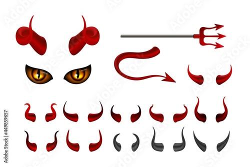 Red devil horn Poster Mural XXL