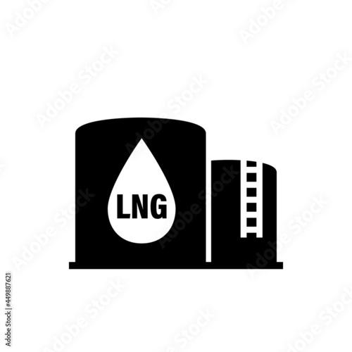Fotografie, Obraz LNG terminal glyph icon