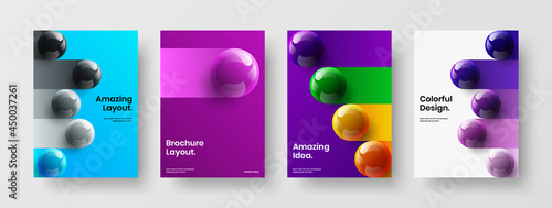 Valokuva Fresh corporate cover design vector template collection