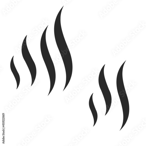 Foto Smoke puff vector icon set. Smoke shape vector sign