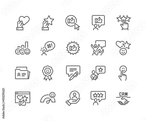 Fotografia Simple Set of Customer Satisfaction Related Vector Line Icons