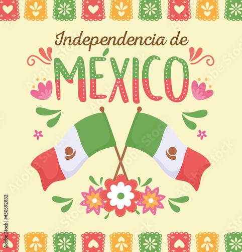 Obraz na plátně mexico independence day