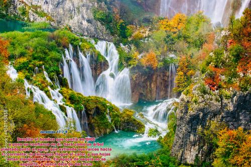 Canvastavla Paisaje Cascada Celestial Paraiso Jeremias 17