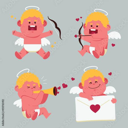 Fotografia Cartoon cupid character collection