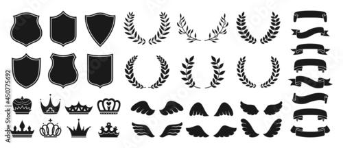 Fotografia Heraldry vintage badge icon set
