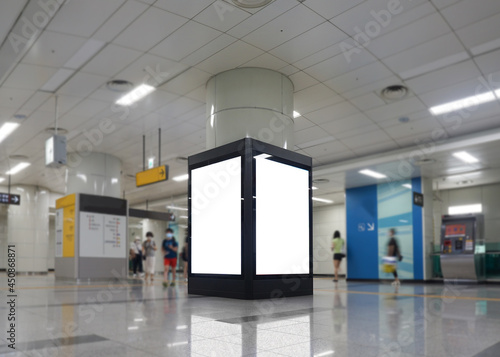 Fotografia Subway Scenery and Advertising Mockup