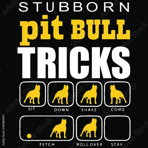 Fotografija dog stubborn pitbull dog training breeder t design vector illustration for use i