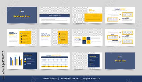 business plan presentation template Design