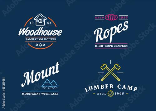 Fotografering Wilderness Camping logo templates