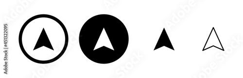 Fototapeta Compass vector icons set. Compass icon vector