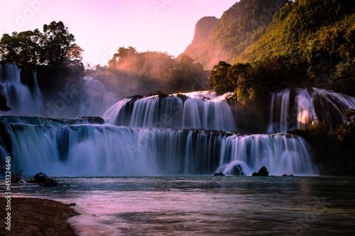 Tela waterfall in autumn