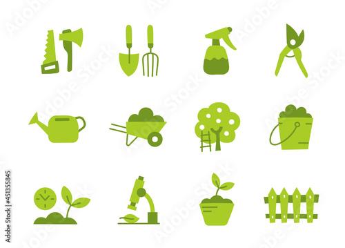 Fotografie, Obraz Gardener tools icon set