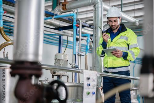 Fotografie, Obraz professional inspection control scientist in uniform are working for fruit juice