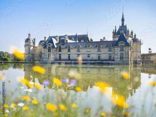Fototapeta château de chantilly vue de l'extérieur du domaine