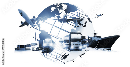 Fotografia The world logistics , there are world map with logistic network distribution on