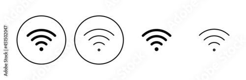 Wifi icon set. signal vector icon. Wireless  icon vector Fototapete