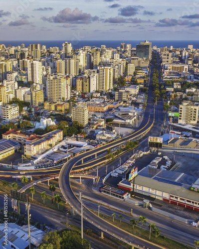 Fotografie, Obraz Roads surrounded by buildings under the sunlight in Santo Domingo, the Dominican