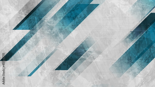 Blue and grey grunge stripes abstract design