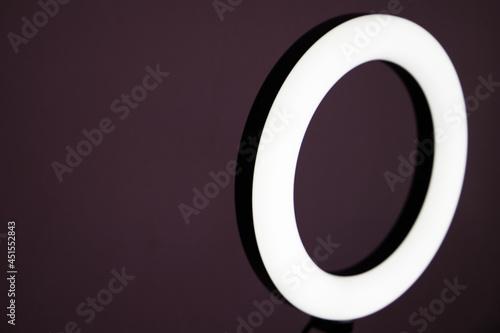 Fototapeta led light ring for cyber gamers and for self-portraits