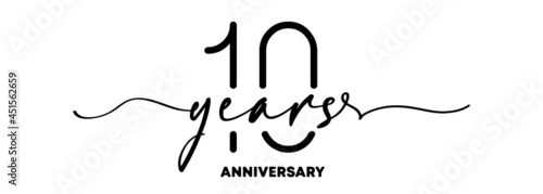 Billede på lærred 10 years anniversary emblem
