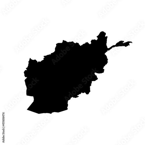 Obraz na plátne Afghanistan map shape icon