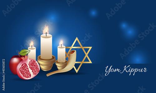Photo Realistic Yom Kippur banner