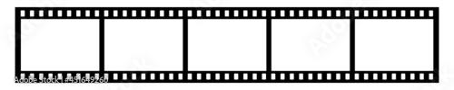 Film frame, transparent holes, svg vector illustration mock up template