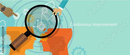 Photo continuous improvement kaizen business concept improve