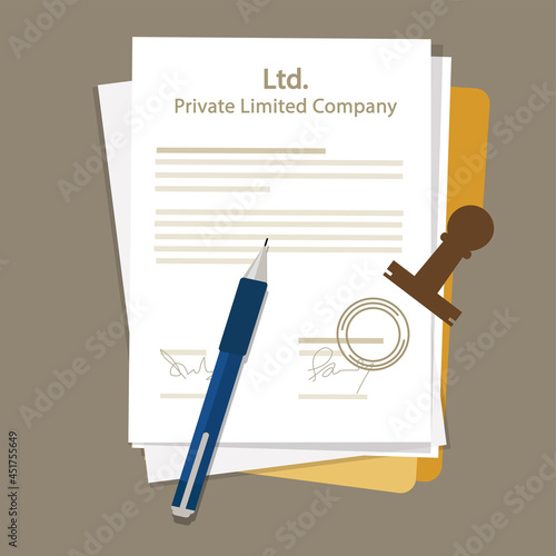 Ltd Private Limited Company Types of business corporation organization entity Fototapete