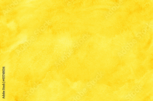 Abstract yellow watercolor background texture
