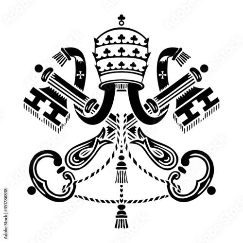 Fotografia, Obraz Holy see emblem vector icon