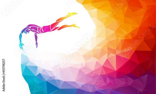 Photo Creative silhouette of swimmer
