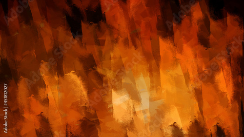 Obraz na plátně Abstract Digital watercolor fine art brush strokes color texture