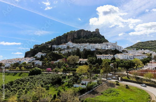 View of a White Hill Town in Andalusia, Spain Fototapeta