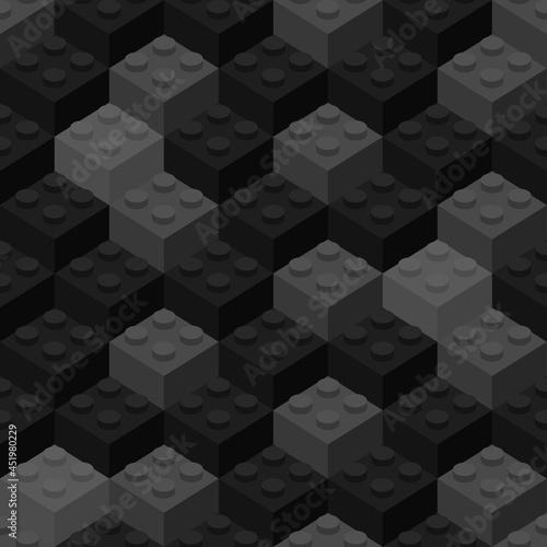 Isometric building block bricks toy like lego,  toy like lego Fotobehang