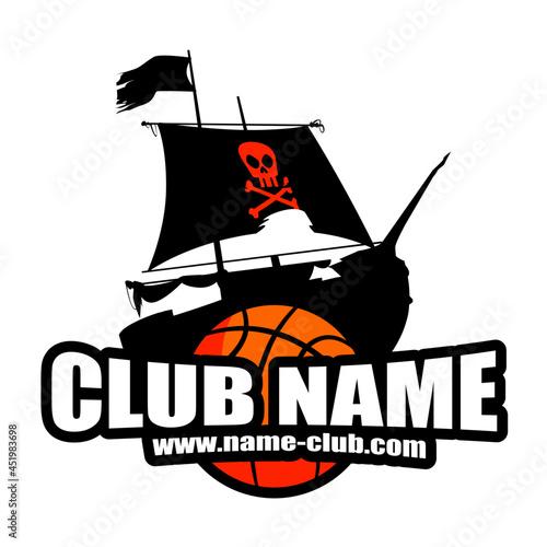 Fotografia Logo club basket sport bateau pirate