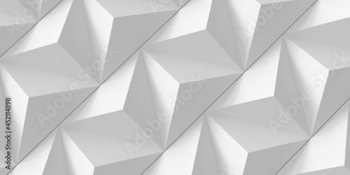Fototapeta Light background from volumetric triangular pyramids