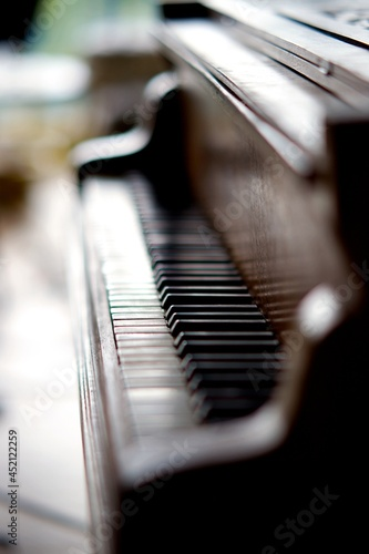 Canvastavla Piano musique instrument clavier touche gros plan