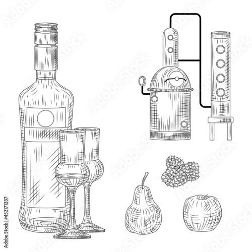 Obraz na płótnie Set of schnapps