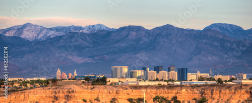 Foto Las Vegas Skyline with hotels on strip. Las Vegas, Nevada.