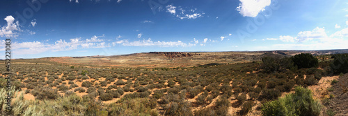 Foto Panorama of the desert in Arches National Park, Utah