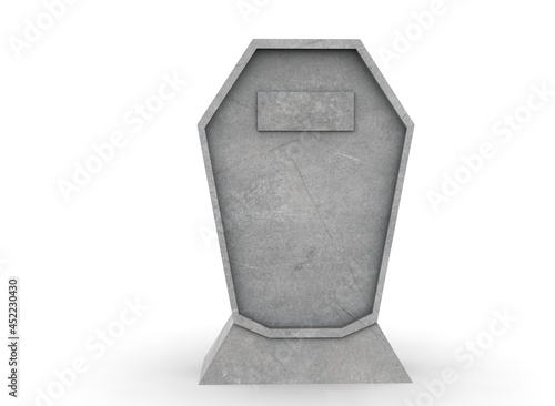 Fotografie, Obraz tombstone on a white background 3d-rendering
