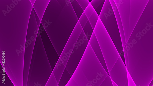 Abstrakter Hintergrund 4k lila Lavendel hell dunkel schwarz Neon Wellen Linien